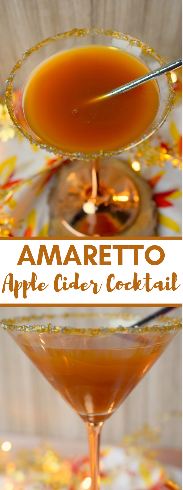 Amaretto Apple Cider Cocktail #drinks #vodka