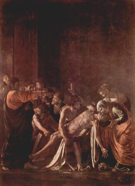 Italie : Le Caravage : La résurrection de Saint Lazare Musée antional de Messine