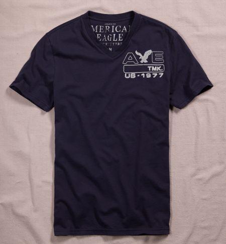 Men Fashion Dresses: Embroidered V-Neck T-Shirt - American ...
