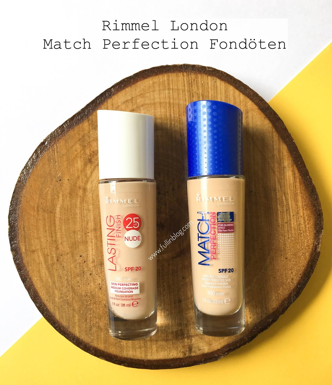 rimmel london match perfection fondöten kullanan
