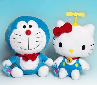 Gambar Doraemon dan Hello Kitty Lucu 2
