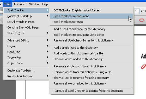 How to turn on spell check in word 2016