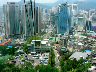 Namsan Cable Car Ride, Myeongdong Seoul