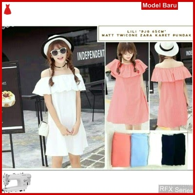 RFX076 MODEL DRESS LILI BAHAN TWISKON HALUS FIT L MURAH ONLINE