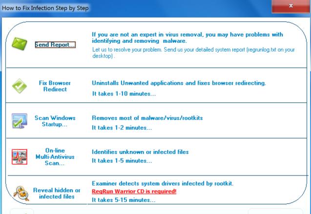 برنامج ازالة الفيروسات مجانا للكمبيوتر RegRun Reanimator