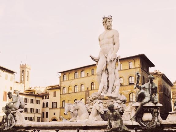 2 days in Florence piazza della signoria