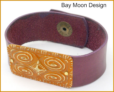 Leather Bracelet by BayMoonDesign