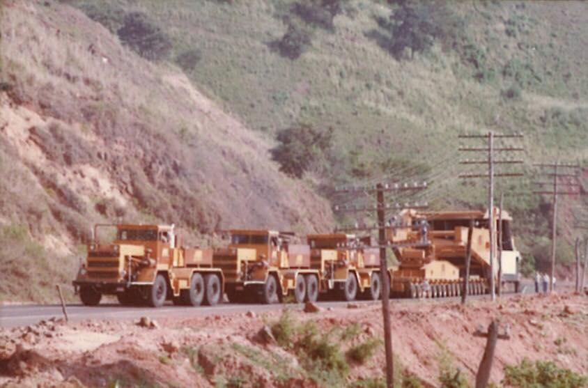 O comboio da Irga na Serra de Botucatu. Foto: acervo Irga