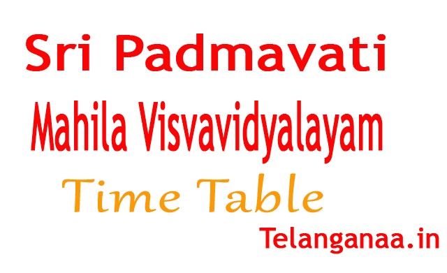 Sri Padmavati Mahila Visvavidyalayam M.Phil / Ph D  2018 Inteview Time Table