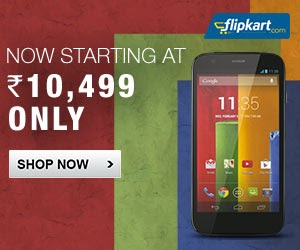 Moto G – Now Starting at Rs.10499 Only (Exceptional Smart Phone @ Exceptional Price)