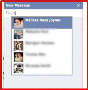 how to send a private message on facebook to a friend