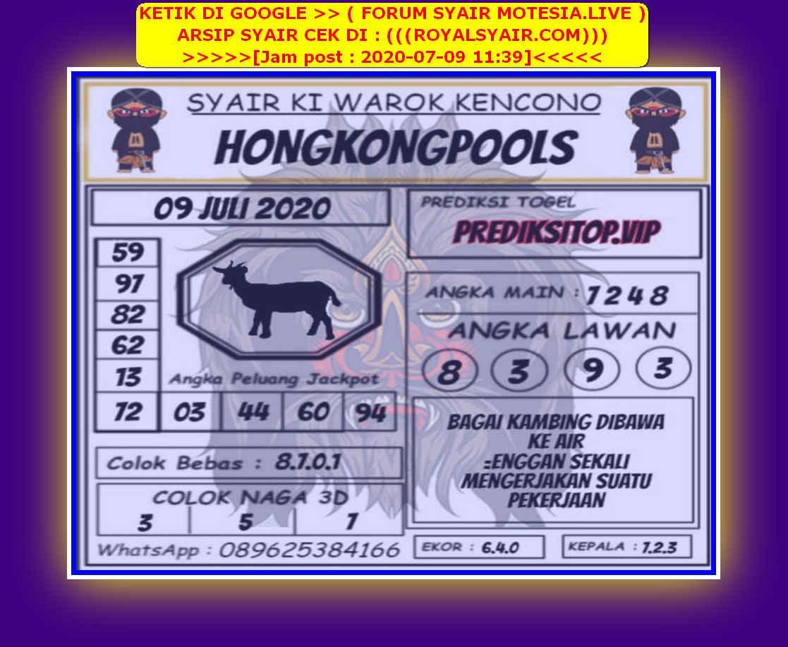 Kode syair Hongkong Kamis 9 Juli 2020 265