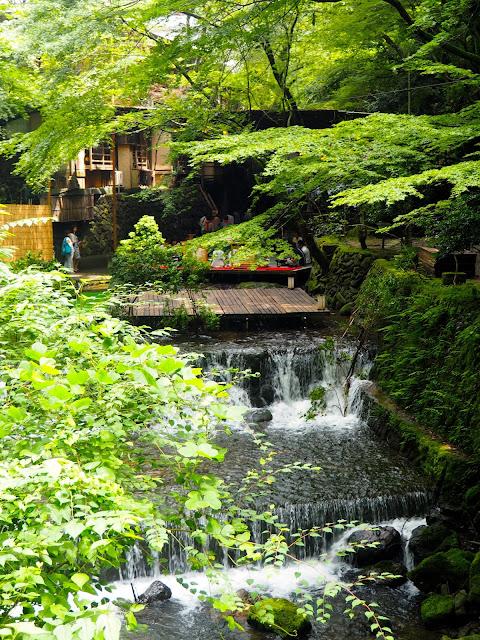 River near Kibune village, Kyoto, Japan