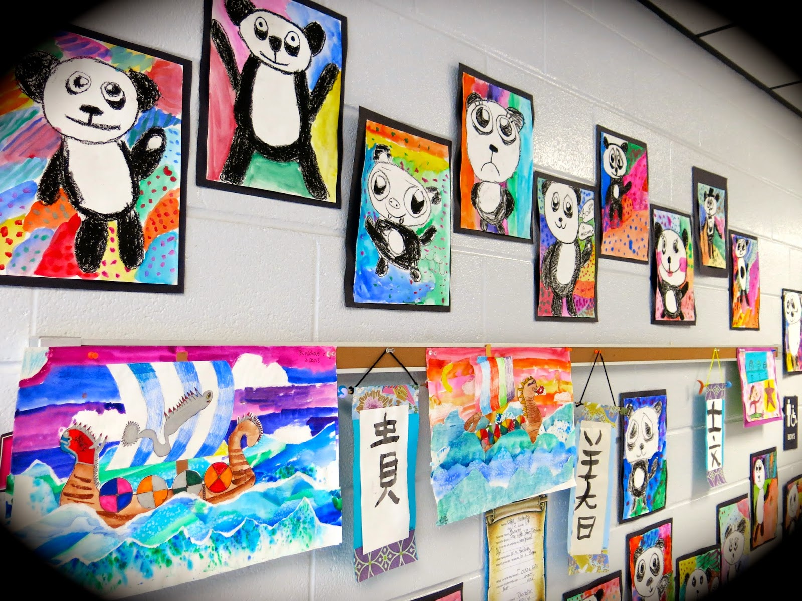 In The Art Room Pandas With Personality By Fourth Grade Artists