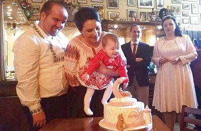 Primul botez în clubul bunicii a fost cel al Sofiei, dragostea noastră