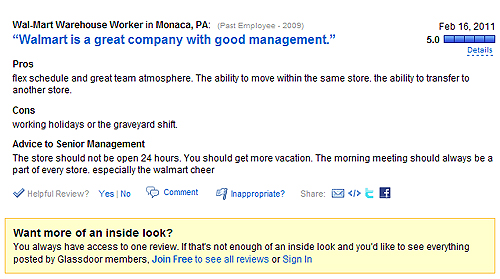 Glassdoor.com employee company reviews, what employees think of their company, glassdoor.com,
