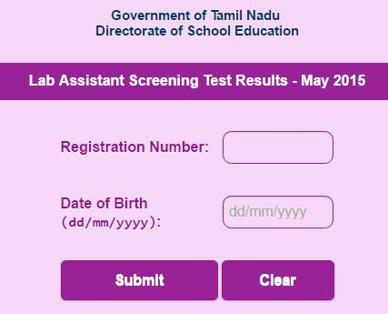 TNDGE Lab Assistant exam (4362 Posts) results published today morning  24.03.2017.