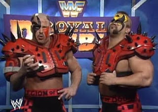 WWF ROYAL RUMBLE 1991 - The Legion of Doom vow to win the Rumble match
