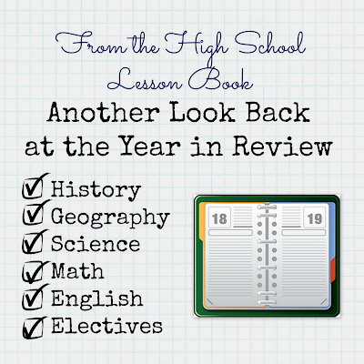 From the High School Lesson Book - Another Look Back at the Year in Review on Homeschool Coffee Break @ kympossibleblog.blogspot.com