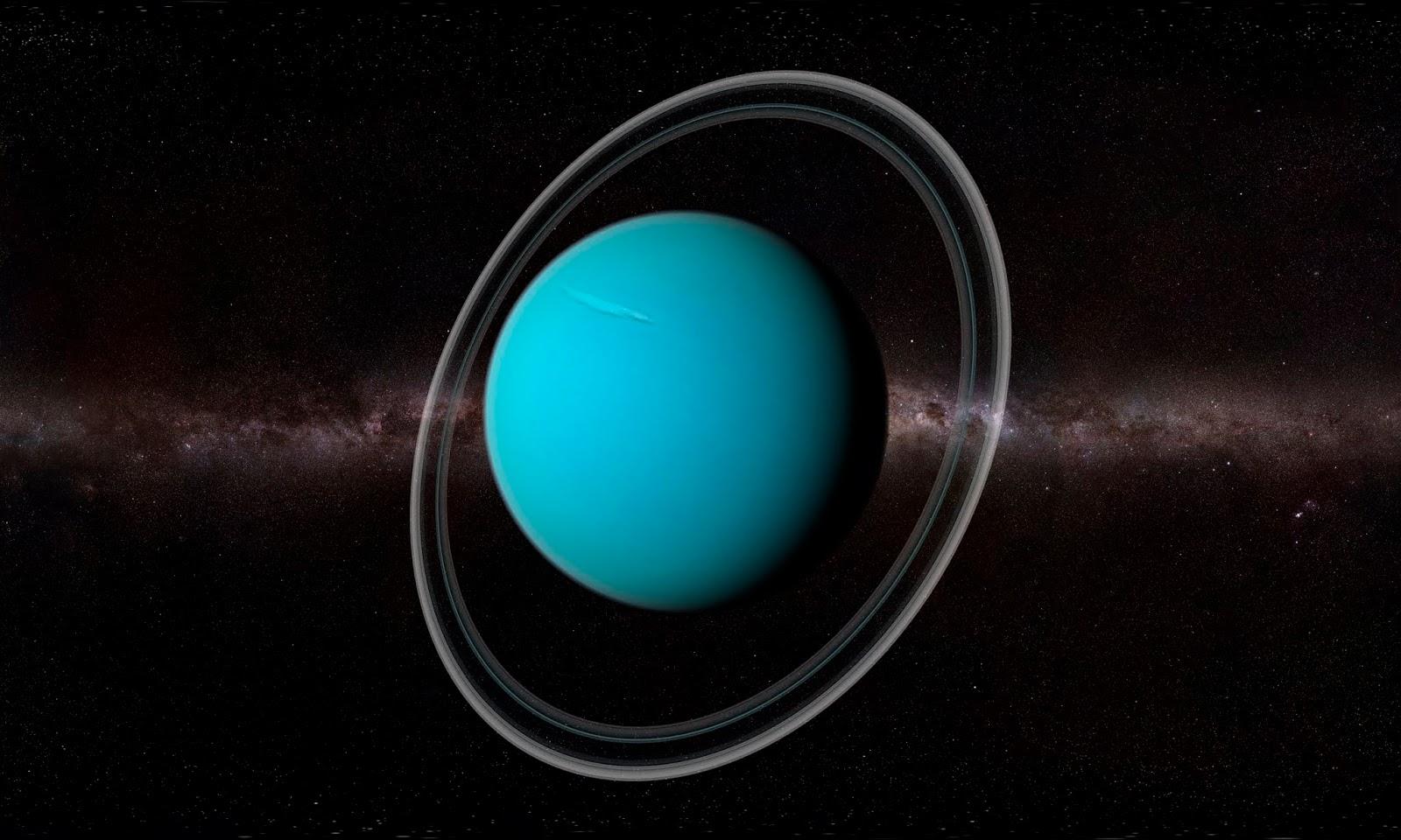 Uranüs Yan Yattı