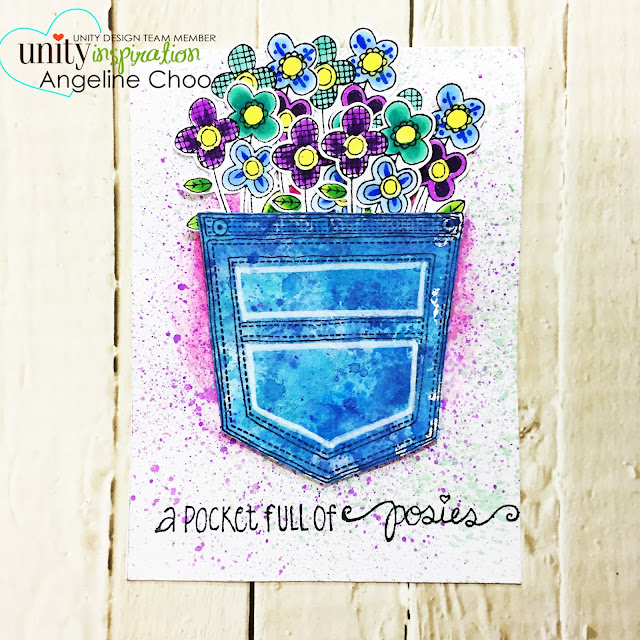 ScrappyScrappy: Pocket full of Posies with Unity Stamp #scrappyscrappy #unitystampco #timholtz #distressoxide #copicmarkers #pocketfullofposies #card #cardmaking #stamp #stamping #papercraft #handmadecard