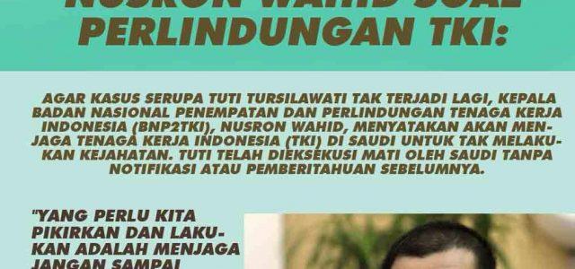 Pemerintah Indonesia Telah Melakukan Berbagai Upaya Untuk Menghentikan Eksekusi Mati Terhadap TKI Tuti Tursilawati