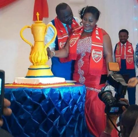 Core Arsenal Couple Celebrate Their Wedding In An Amazing Way (Photo) -  Family - Nairaland 1401bffe15b