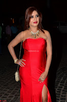 Sejal Jen Shah in Strapless Sleeveless Deep neck Red Gown at 64th Jio Filmfare Awards South ~  Exclusive 004.JPG