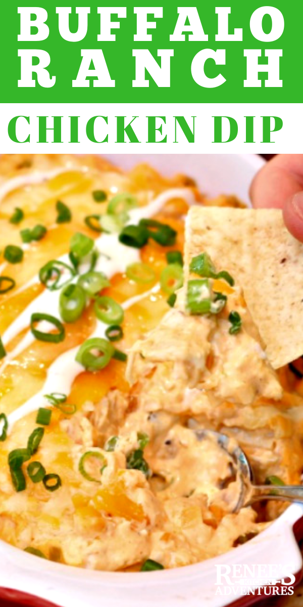 Creamy Ranch Buffalo Chicken Dip pin