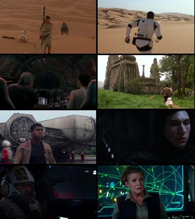 Star Wars The Force Awakens 2015 English 480p BRRip ESubs