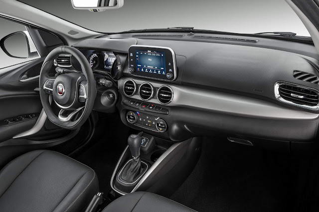 Fiat Argo x VW Polo - interior