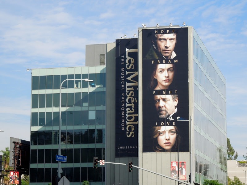 Giant Les Miserables movie billboard