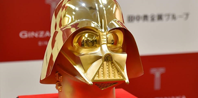 Photo: 24K gold of Darth Vader mask up for $1.4M in Japan