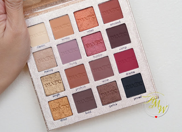 a photo of IMAGIC PROfessional Cosmetics 16 Color Eyeshadow Palette Review by Nikki Tiu of www.askmewhats.com