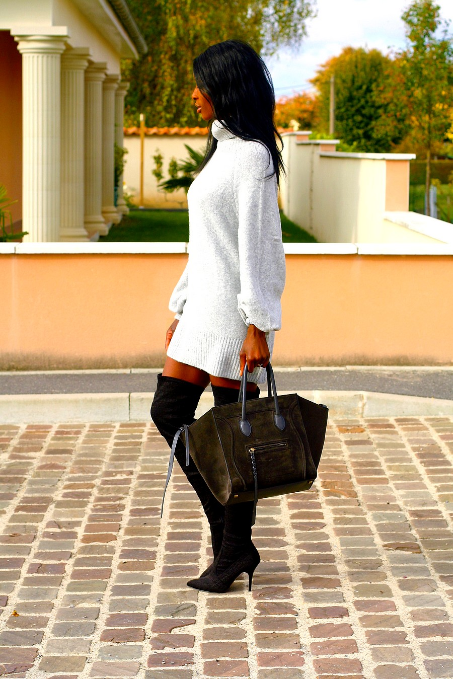 Robe pull x cuissardes styles by assitan blog mode french style blogger Celine fashion street style