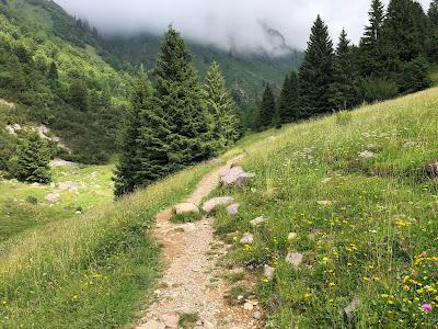 Trail just above Rifugio Alpe Corte.