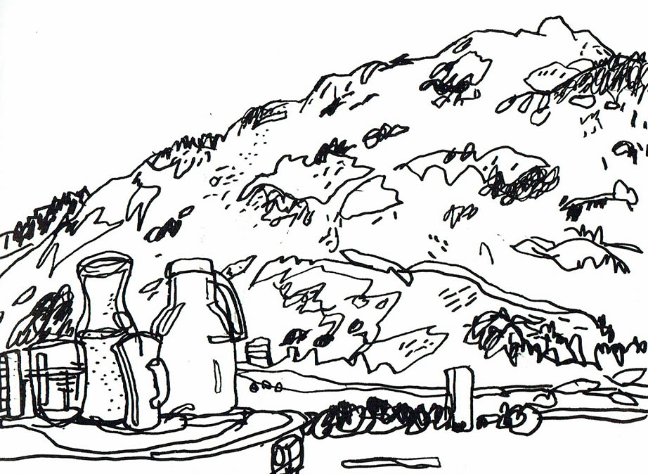 views from a swiss hospital urban sketchers Aruba Dive Sites Map i came round in a small ward with the most phenomenal alpine view of the calanda mountain which i soon felt well enough to draw from my bed top image