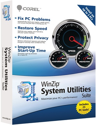 WinZip System Utilities Suite 3.3.8.10 poster box cover