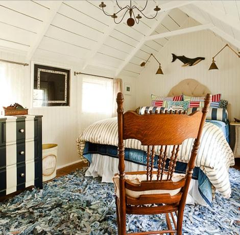 nautical cottage bedroom