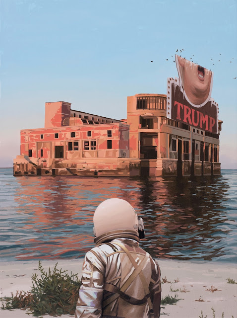I rarely feel compelled to make a painting about a specific point in time. But hey, things are pretty weird right now. Scott Listfield