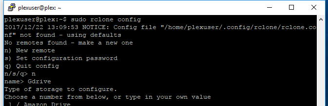 Part 4 - Setting up Rclone and/or Plexdrive