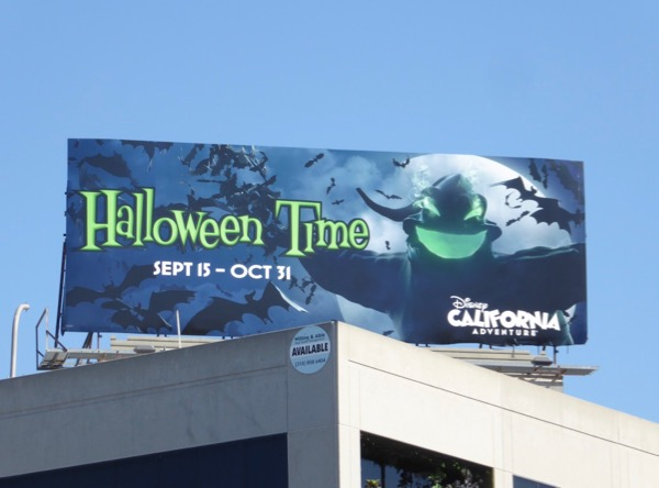 Halloween Time Oogie Boogie billboard
