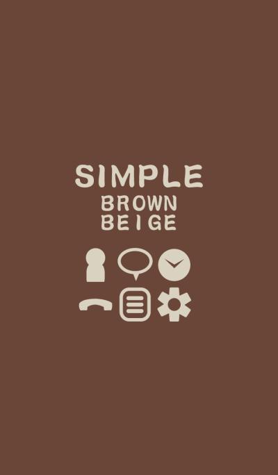 SIMPLE brown*beige*