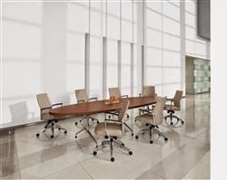 Elliptical Conference Table by Global