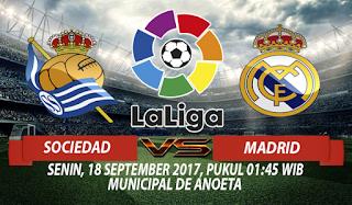 Prediksi Real Sociedad vs Real Madrid 18 September 2017