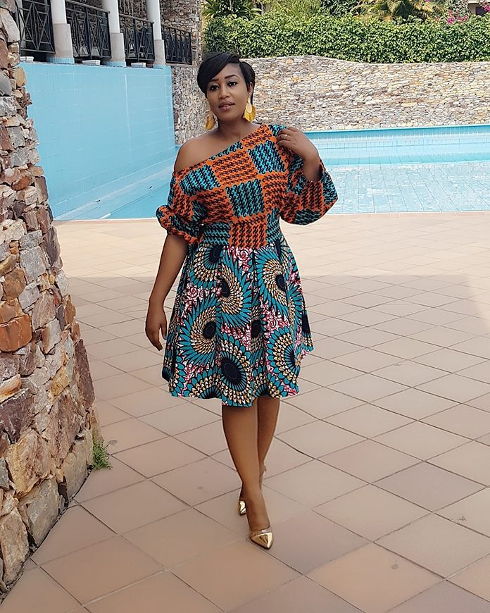 Ankara Latest Fashion Styles: Short Gown Styles 2018 for
