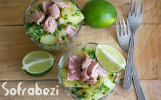 Ton Balikli Patates Salatasi