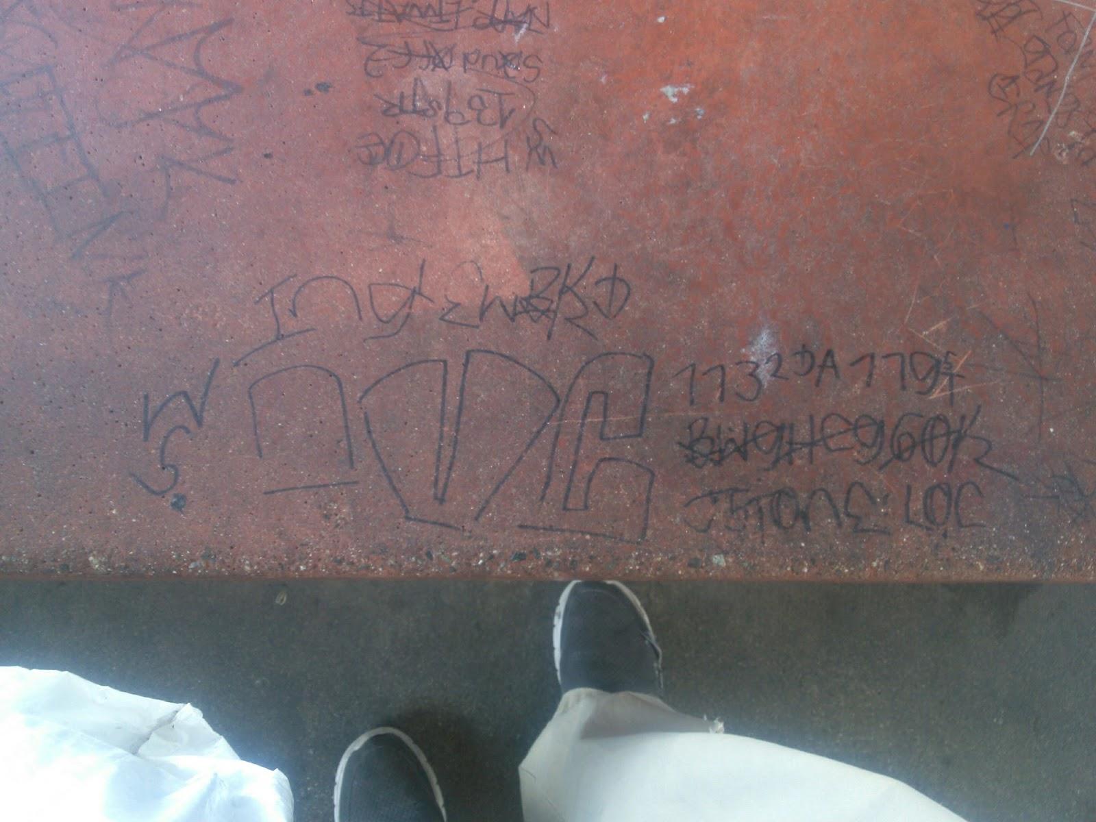 crip gangs graffiti: Imperial village crip