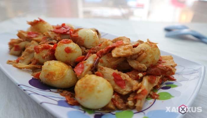 Resep jamur tiram telur puyuh