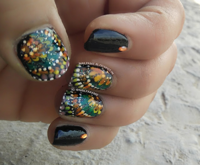 DRAGGED MARBLE NAILART